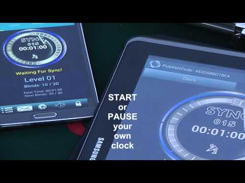 Poker Clock RTC android app