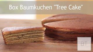 """Box Baumkuchen """"tree Cake"""""""
