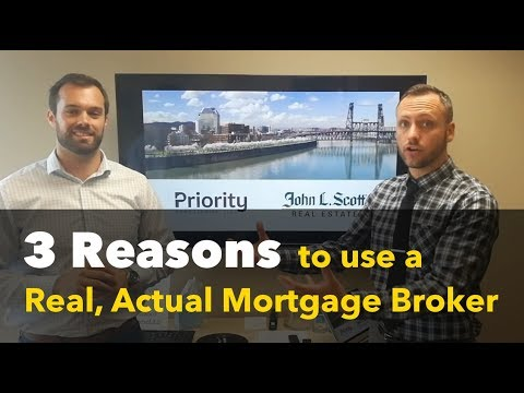 Three reasons why you should use a real, actual mortgage broker.