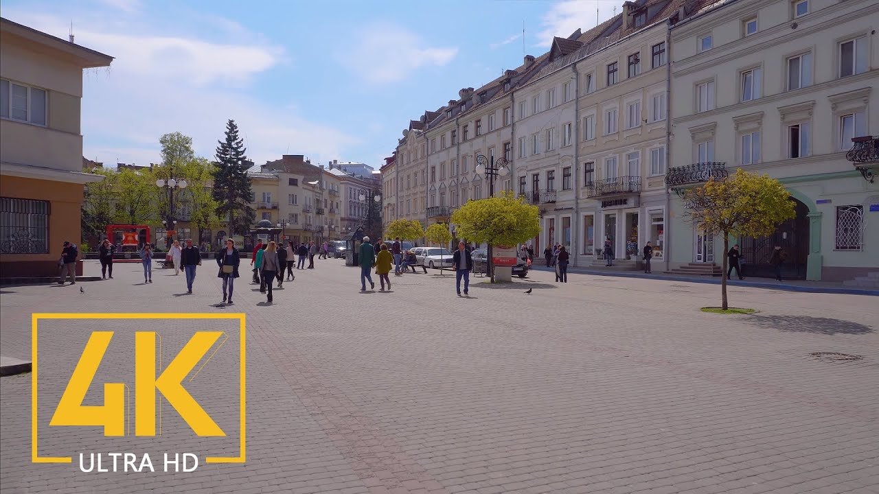 Ivano-Frankivsk – Digital Strolling Tour in 4K – Journey to Ukraine