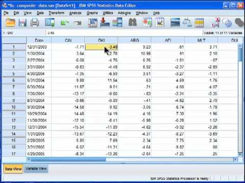 Principal Components Analysis - SPSS (part 1)