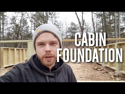 A-Frame cabin: Building a Permanent Wood Foundation