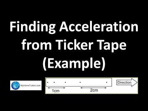 Finding Acceleration from Ticker Tape