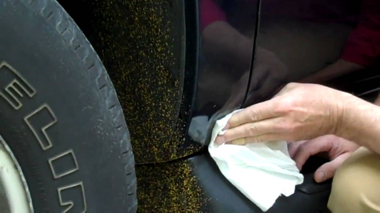 Removing Road Stripe Paint From Car Fender With Bio Solv