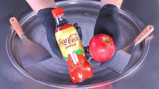 ASMR - Coca-Cola & Apple Ice Cream Rolls | how to make oddly satisfying Coca Cola fried Ice Cream 4k