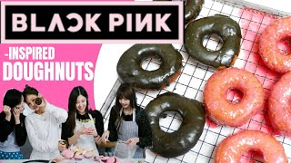 BLACKPINK INSPIRED DOUGHNUTS RECIPE  BLACKPINK HOUSE COOKING  HOW YOU LIKE THAT