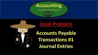 Video 200.50 Accounts Payable Journal Entries Part 1- Financial Accounting instructions download MP3, 3GP, MP4, WEBM, AVI, FLV Juli 2018