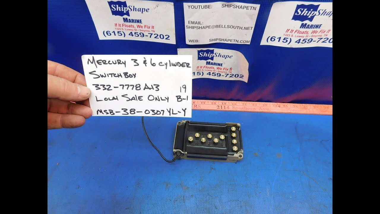 FOR SALE - Mercury SwitchBox for 3 & 6 Cylinder (2) LOCAL SALE B-1