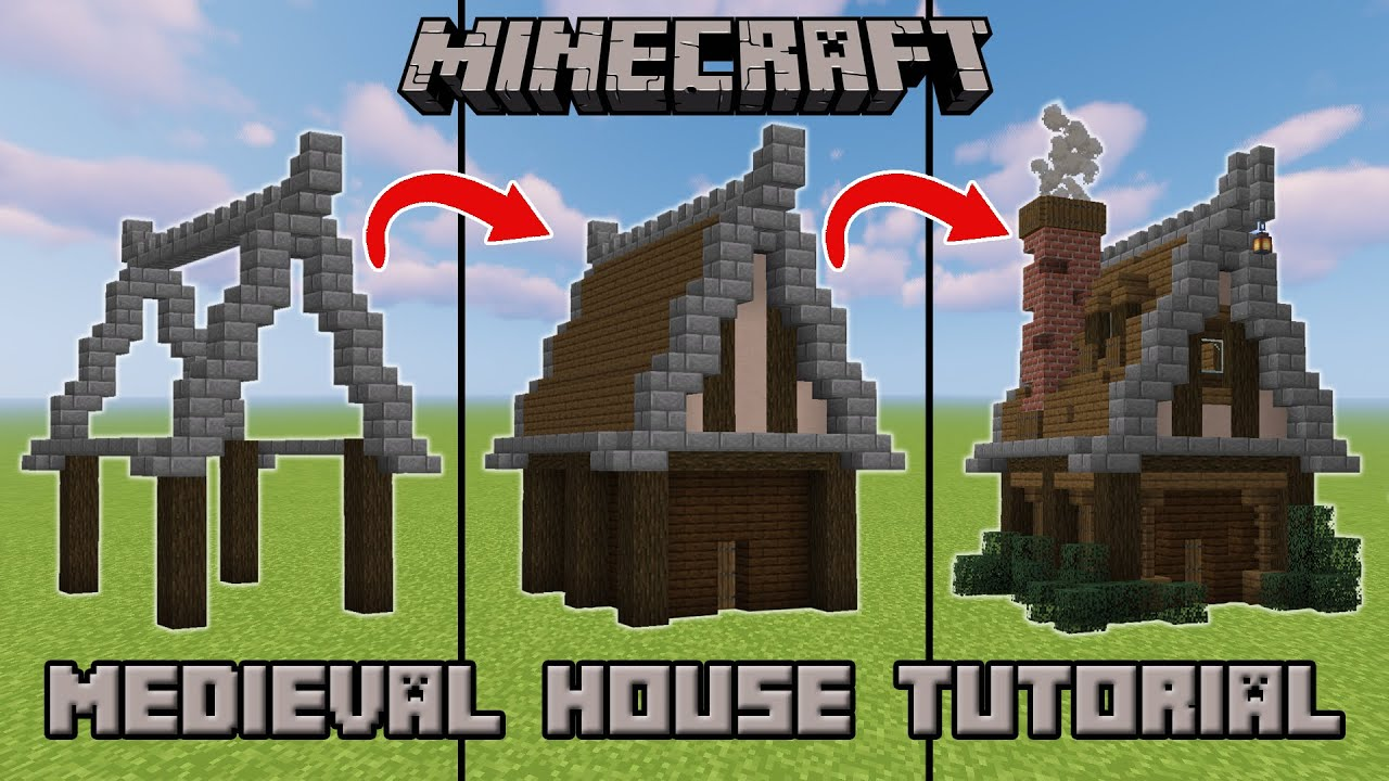 How To Build A Medieval House In Minecraft Step By Step Tutorial Youtube