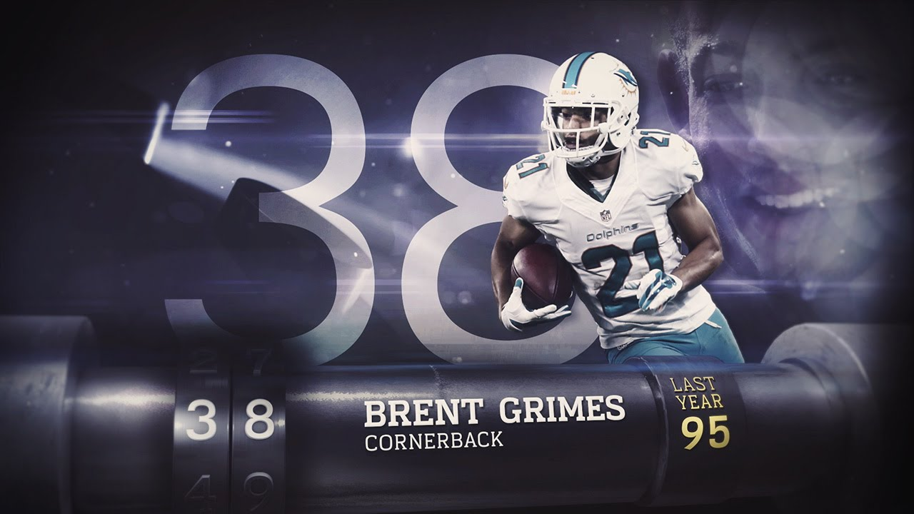 38 Brent Grimes CB Dolphins
