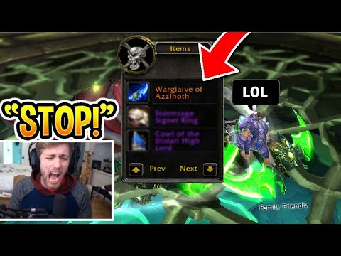 5 *CRAZY* Ninja Loot Reactions In WoW! (RAGE)