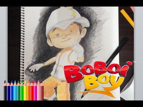 Nobita Art Drawing Boboiboy Solar Melukis Boboiboy Solar Youtube