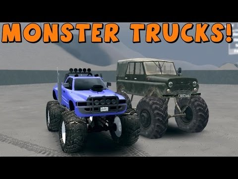SpinTires | Mods | MONSTER TRUCKS! | Download Links In Description