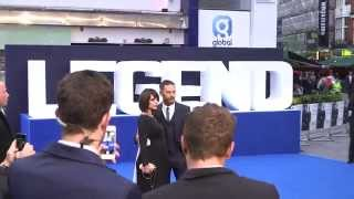Legend World Premiere Blue Carpet - Tom Hardy, Emily Browning, Christopher Eccleston