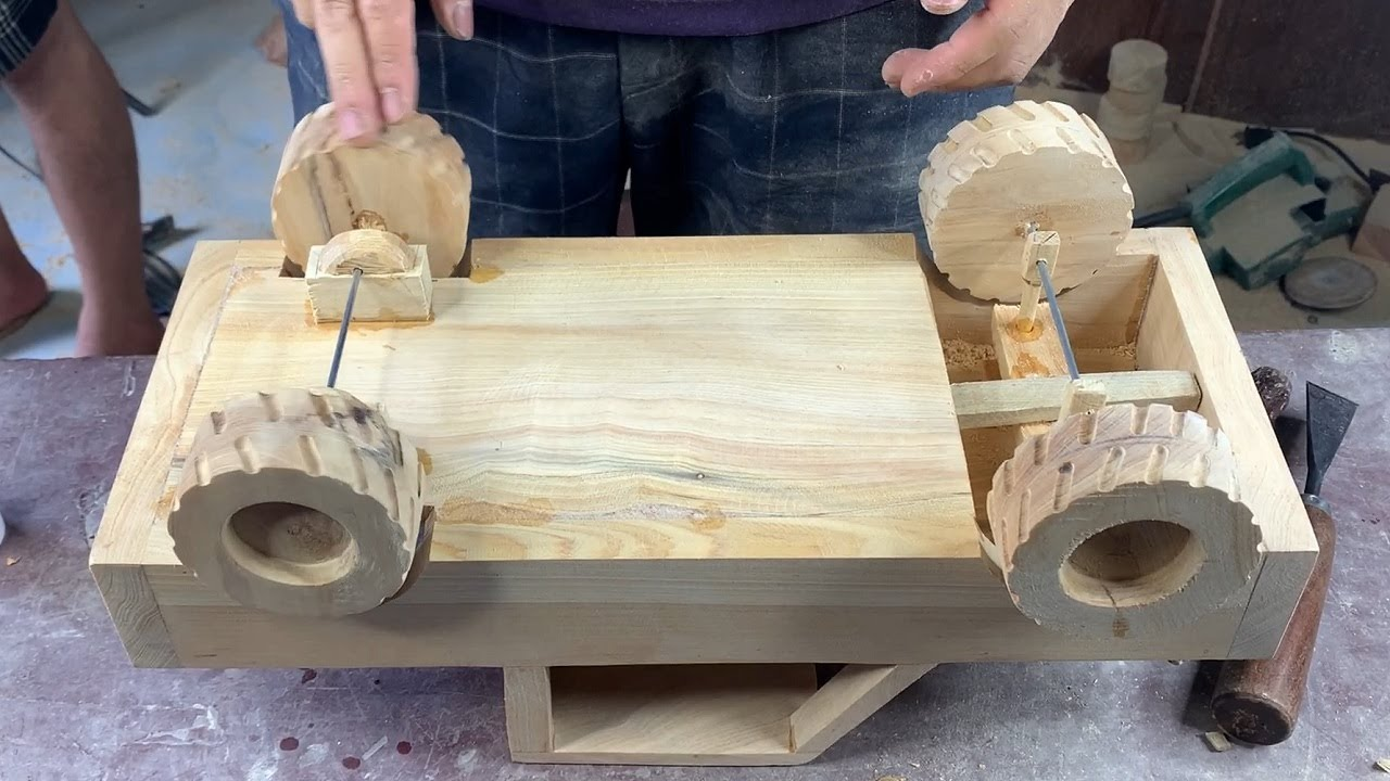 Woodworking - Diy A Model Cars Cross The Beyond Any Terrain Of America - I love USA