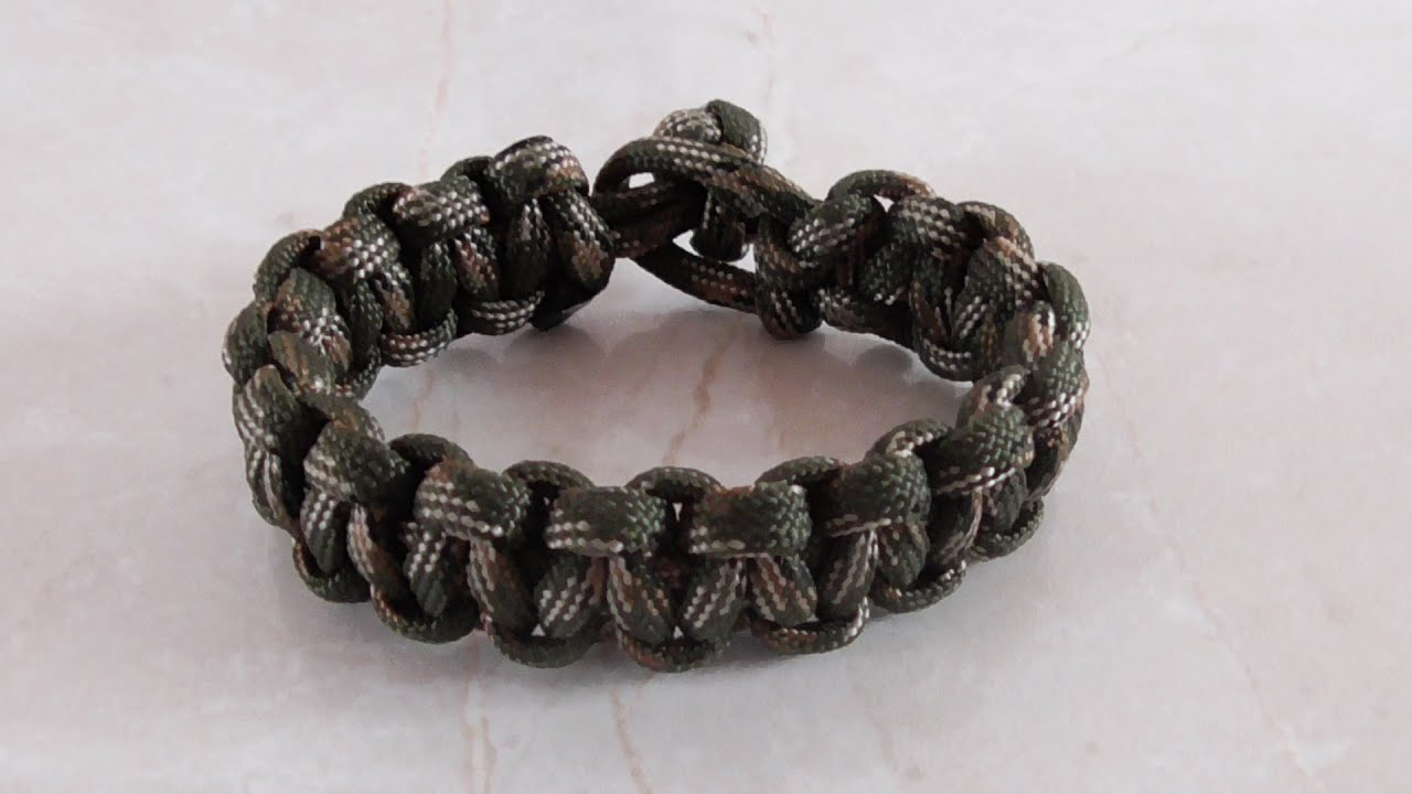Basket Weave Paracord Bracelet Tutorial : How to tie a single strand cobra weave paracord bracelet