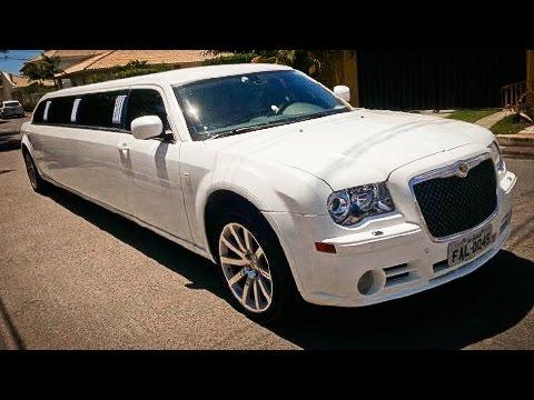 limousine 300c chrysler branca loca o autos de luxo. Black Bedroom Furniture Sets. Home Design Ideas