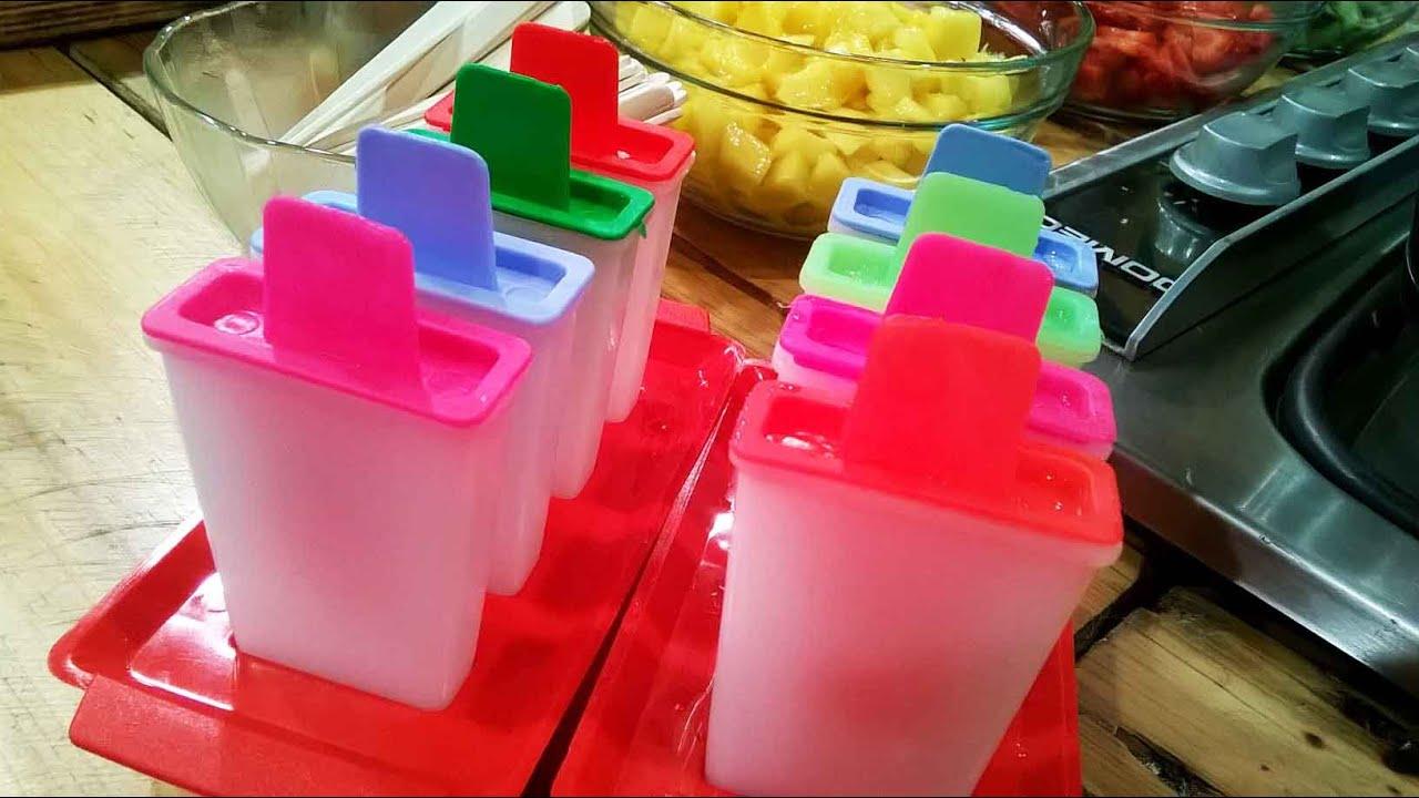 Como hacer helados caseros de agua