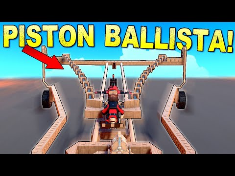 Piston Powered Ballista Is NOT The Superior Siege Weapon - Trailmakers Gameplay