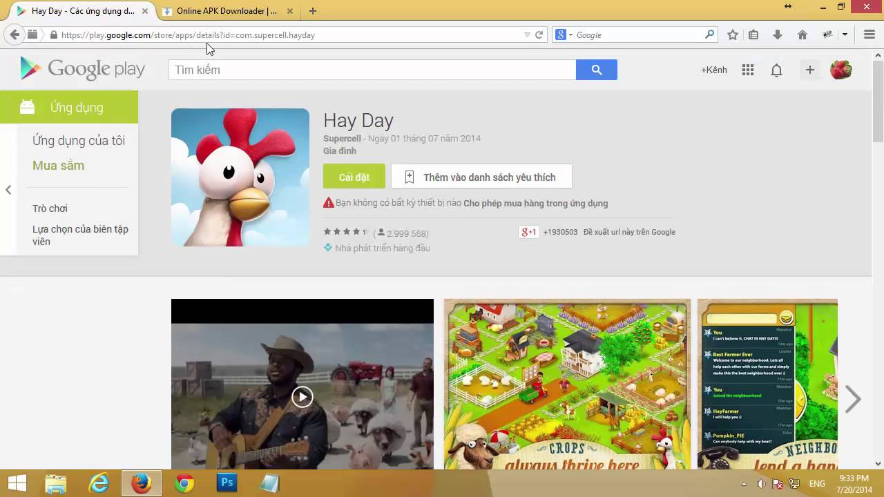 Tải ứng dụng từ Google Play về máy tính