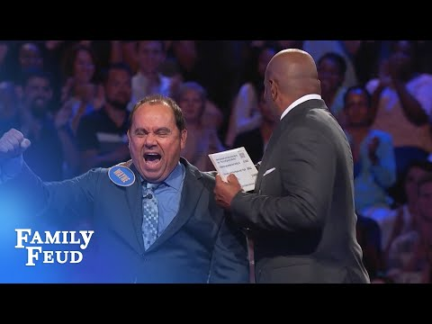 Wayne is OUT OF THIS WORLD! | Family Feud