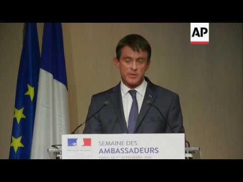 Valls on Gabon, security threat posed by jihadis