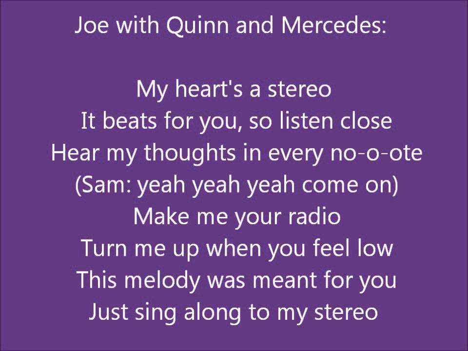 Glee - Stereo hearts - lyrics - YouTube