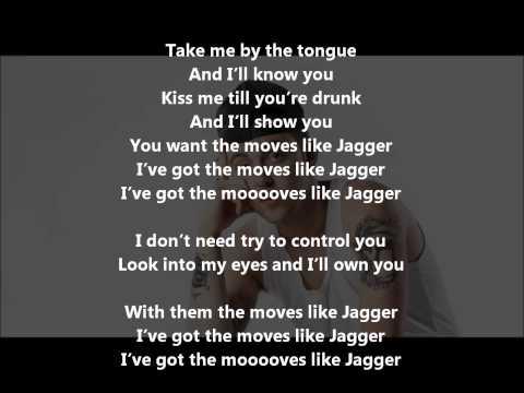 Moves Like Jagger(Remix) Lyrics + FREE DOWNLOAD Maroon 5 Ft. Mac Miller & Christina Aguilera