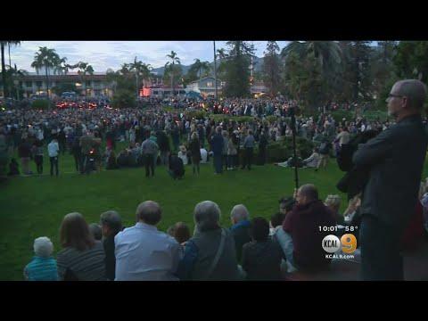 Vigil Held For Montecito Mudslide Victims