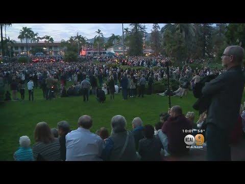Vigil Held For Montecito Mudslide Victims