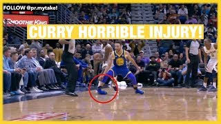 CURRY INJURY!! Kevin Durant & DeMarcus Cousins Ejected! Warriors vs Pelicans 2017 18 Season