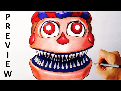 How To Draw Nightmare Balloon Boy Jumpscrare From Five Nights At Freddy's 4 FNAF 4 Drawing Lesson 1m