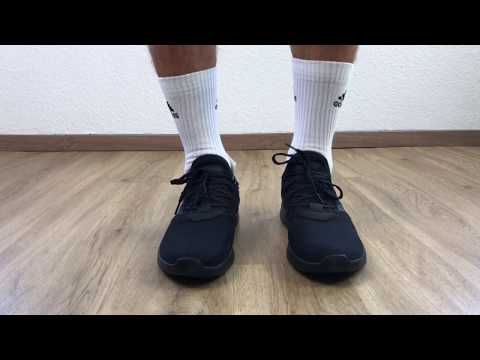 adidas-cloudfoam-lite-racer-reborn-'all-black'- -unboxing-&-on-feet- -fashion-shoes- -2019