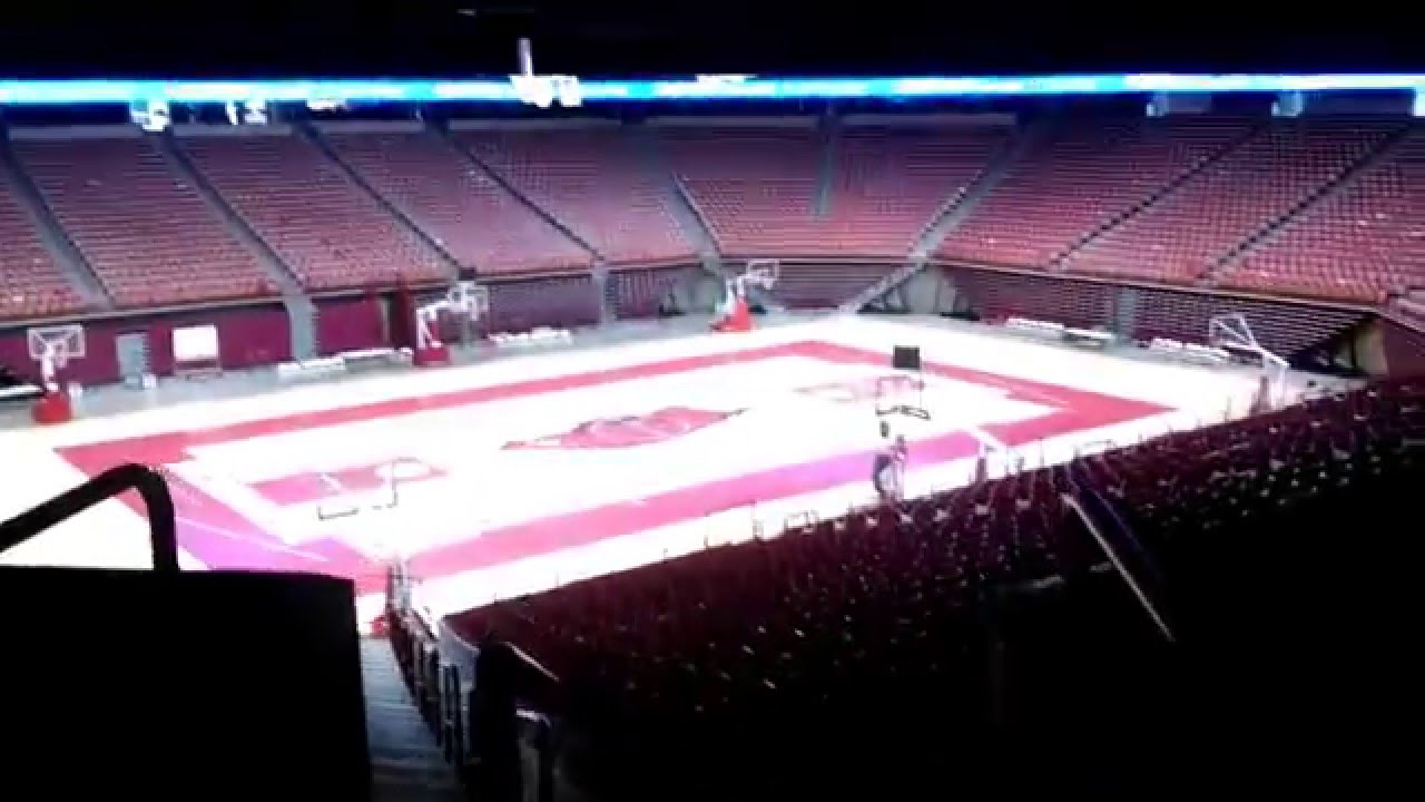Bud Walton Arena Walking Towards The Court
