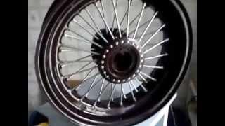Спицевание автомобильного колеса (НЕ ПРОЦЕСС)