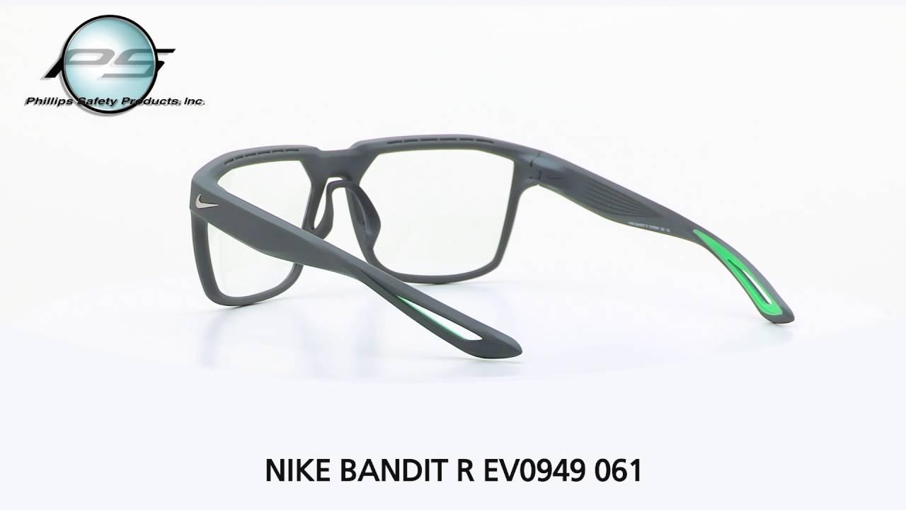 bbd51172cd3 Prescription Safety Eyewear NIKE BANDIT R EV949 061 - YouTube