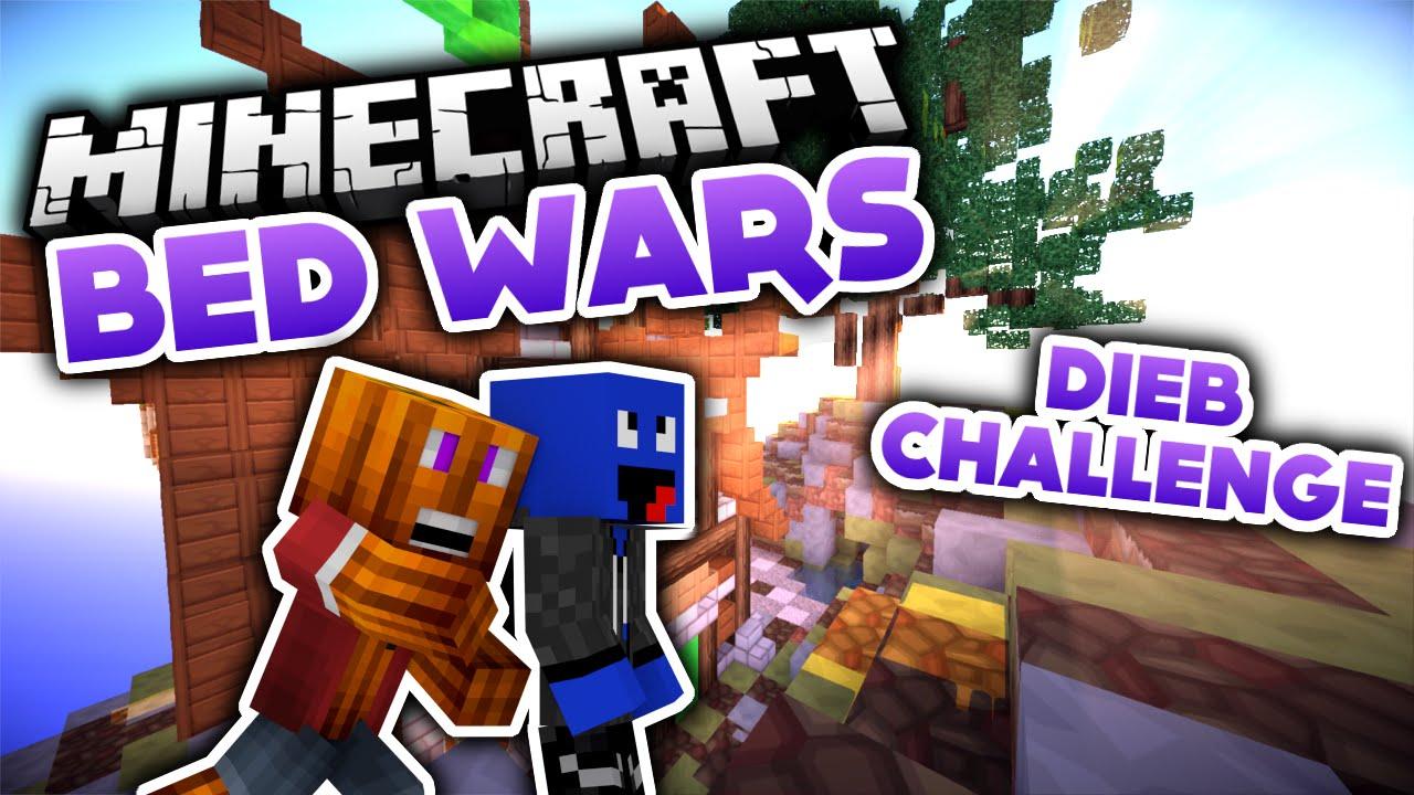 Dieb Challenge Minecraft Bed Wars DeutschGerman YouTube - Minecraft spiele schieben