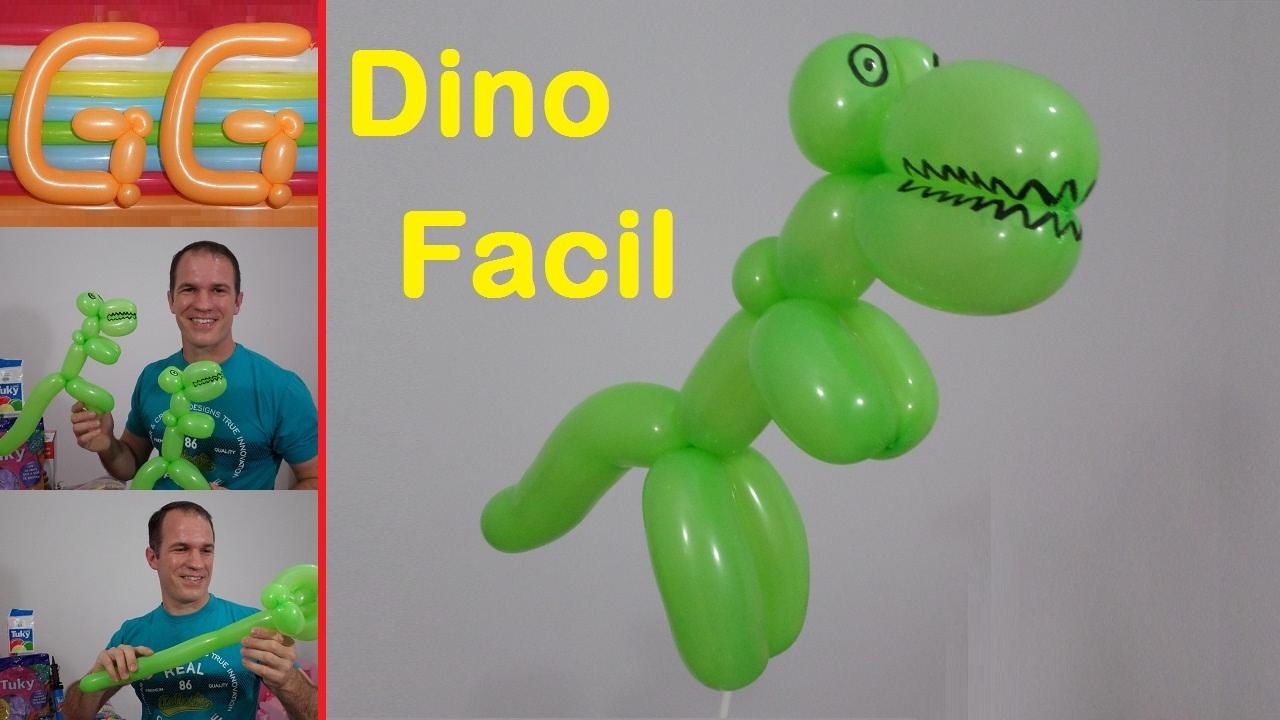 Como Hacer Dinosaurios Con Globos Figuras Con Globos Largos - Figuras-con-globos-faciles