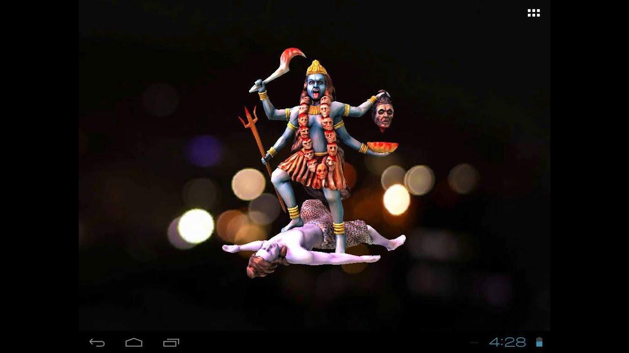 3d Wallpaper Durga Mata Ma Kali S Free Animated 3d Mobile App Live Wallpaper