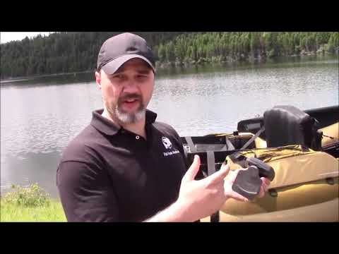 How To Put A Fishfinder On A Fishing Float Tube With Style