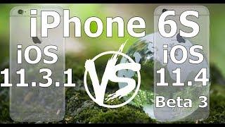 iPhone 6S : iOS 11.4 Beta 3 vs iOS 11.3.1 Speed Test Build 15F5061d