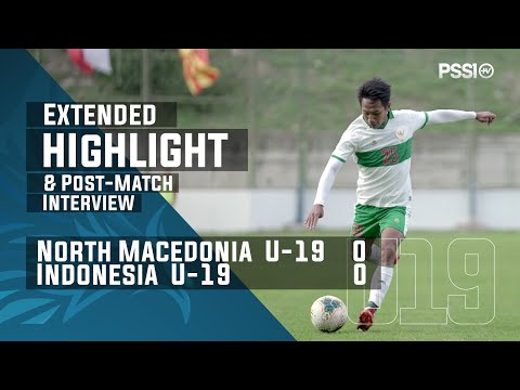 U-19 International Friendly Match : North Macedonia 0 - 0 Indonesia (with Post-Match Interview)