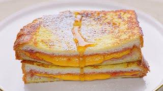 집에서 호텔 프렌치 토스트 만들기 : 딸기잼 토스트  …