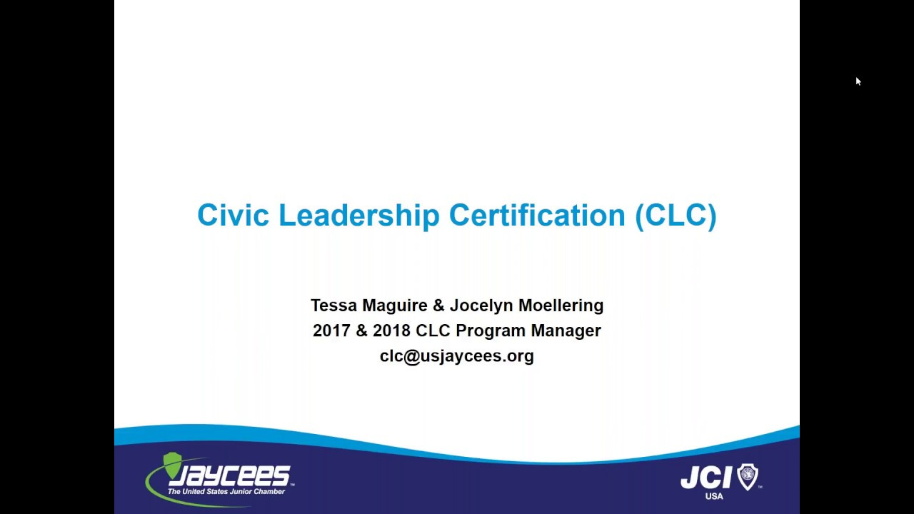 Civic Leadership Certification Clc Youtube