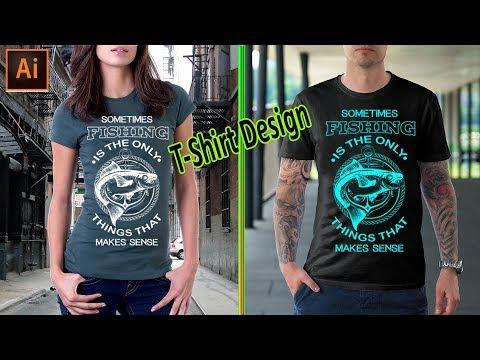 How To Make Fishing T-Shirt Design In Illustrator