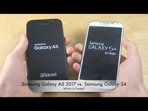 Samsung Galaxy A5 2017 vs. Samsung Galaxy S4 - Which Is Faster?!