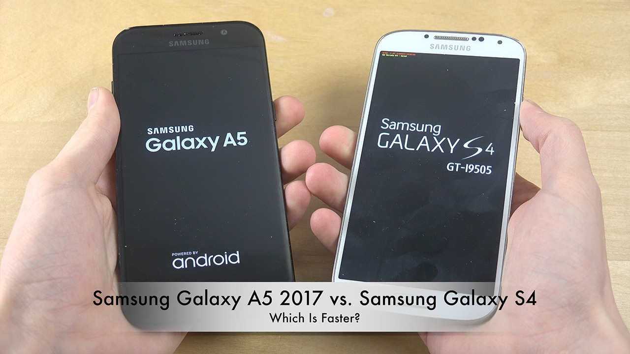 samsung galaxy a5 2017 vs samsung galaxy s4 which is faster youtube. Black Bedroom Furniture Sets. Home Design Ideas