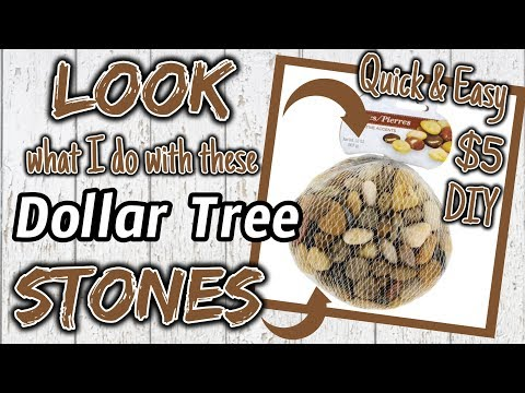 LOOK What I Do With These Dollar Tree STONES | $5 QUICK & EASY DIY