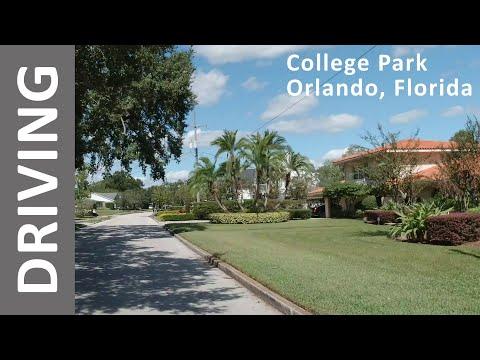 Driving around Northwest College Park in Orlando Florida