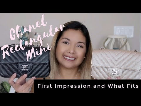 Chanel Rectangular Mini | First Impressions and What Fits | Which One Did I Keep? | LalaLovesLV